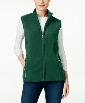 Image of Karen Scott Petite Fleece Vest, Only at Macy's