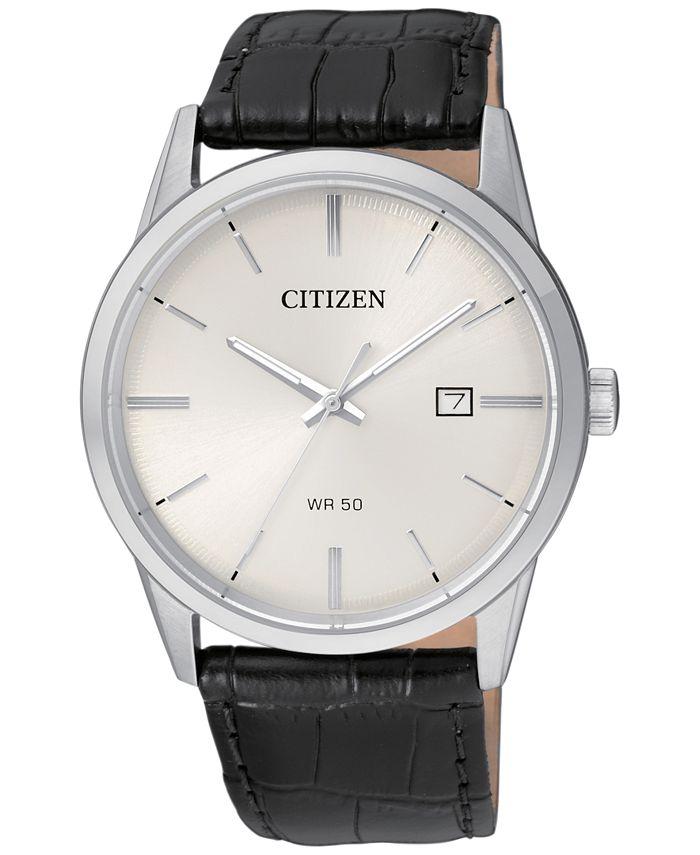 Citizen - Men's Quartz Black Leather Strap Watch 39mm BI5000-01A