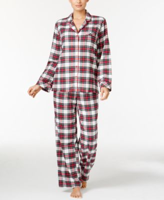 Image of Charter Club Holiday Flannel Pajama Set, Only at Macy's