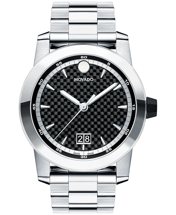 Movado - Men's Swiss Vizio Stainless Steel Bracelet Watch 44mm 0607050