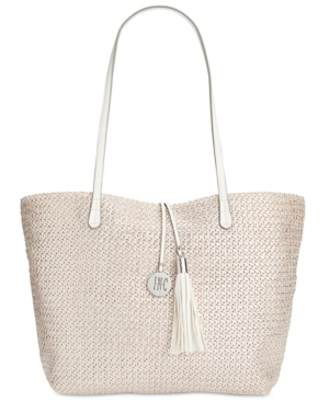 Inc International Concepts La Izla Straw Beach Bag, Only at Macy's