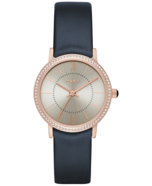 Dkny Women's Willoughby Navy Leather Strap Watch 28mm NY2553