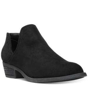 Carlos by Carlos Santana Baron Cut-Out Block-Heel Booties Women's Shoes