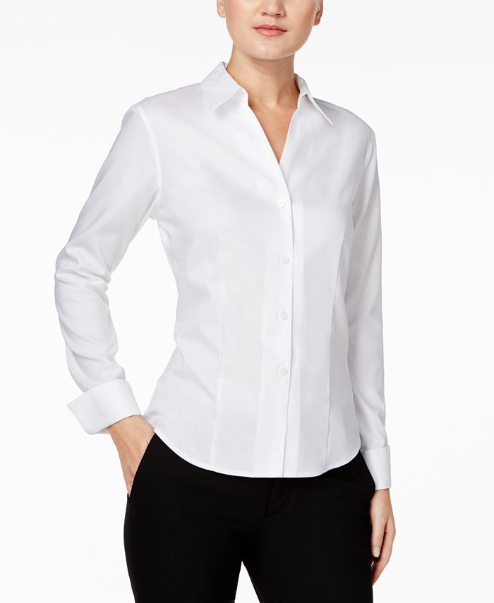 Calvin Klein - Shirt, Long-Sleeve Fitted