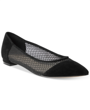 Nine West Ananie Mesh Pointed-Toe Flats Women's Shoes