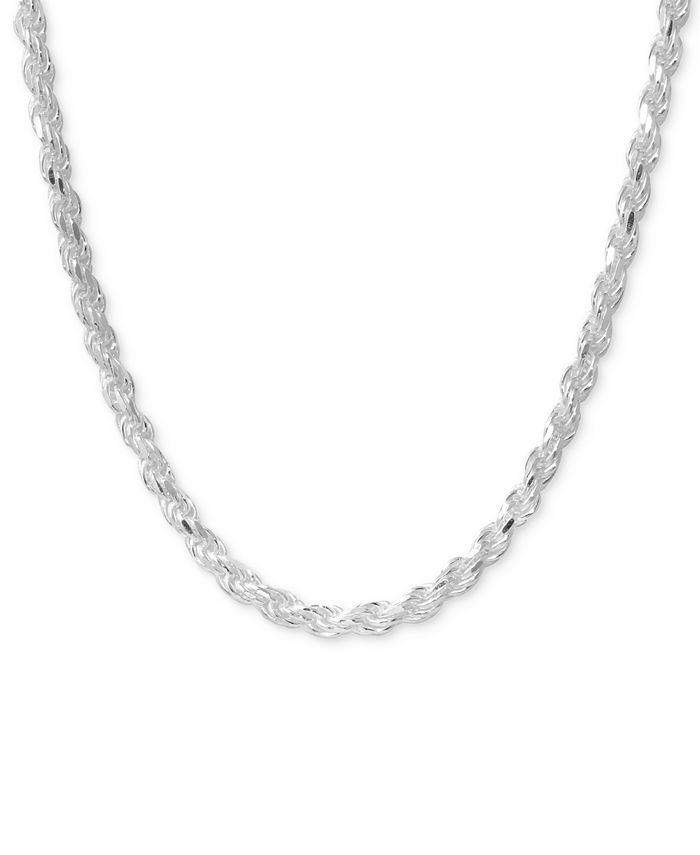 Macy's - Rope Chain Necklace in Sterling Silver