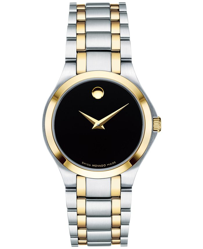 Movado - Women's Swiss Collection Two-Tone PVD Stainless Steel Bracelet Watch 28mm 0606897