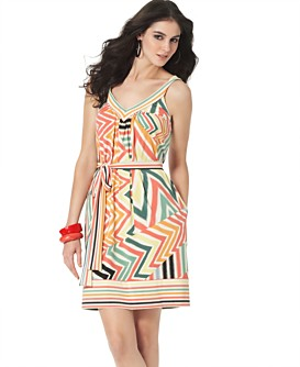 Macy*s -   Women's - 								BCBGMAXAZRIA Charlie's Stripe and Patchwork Tank Dress