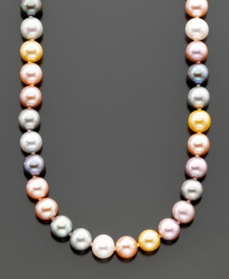 Fresh by Honora 14k Gold Multicolored Cultured Freshwater Pearl (8-9mm) Necklace