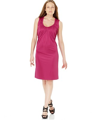 Calvin Klein Pleated Sleeveless Dress - Casual Daytime Dresses - Women's - Macy's