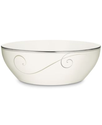 Noritake Dinnerware, Platinum Wave Round Vegetable Bowl