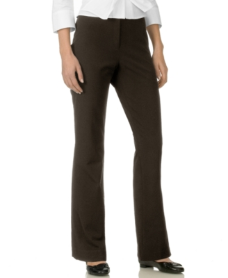 Jones New York Signature Petite Pants, Stretch Straight Leg, Brown