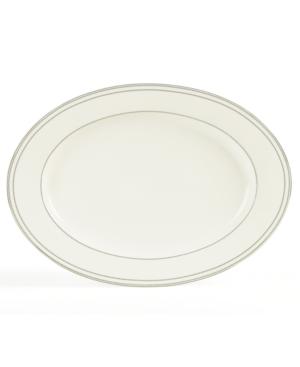 "Mikasa ""Chelsea Platinum"" Oval Platter, 16"""
