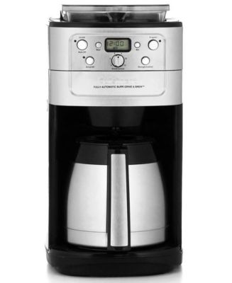 Cuisinart DGB-900BC Coffee Maker, Grind & Brew 12-Cup Thermal Automatic - Coffee, Tea & Espresso ...