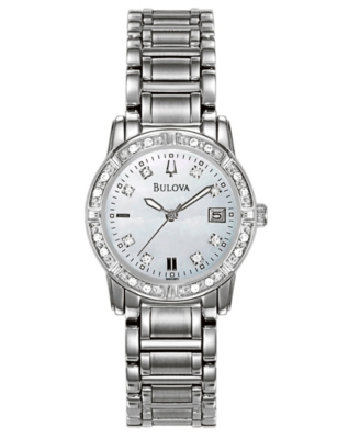 Bulova Watch, Women's Stainless Steel Bracelet 96R105
