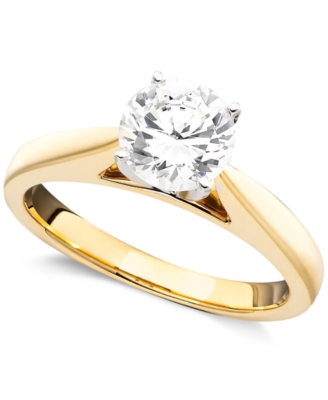14k Gold Certified Diamond Engagement Ring (1-1/4 ct. t.w)