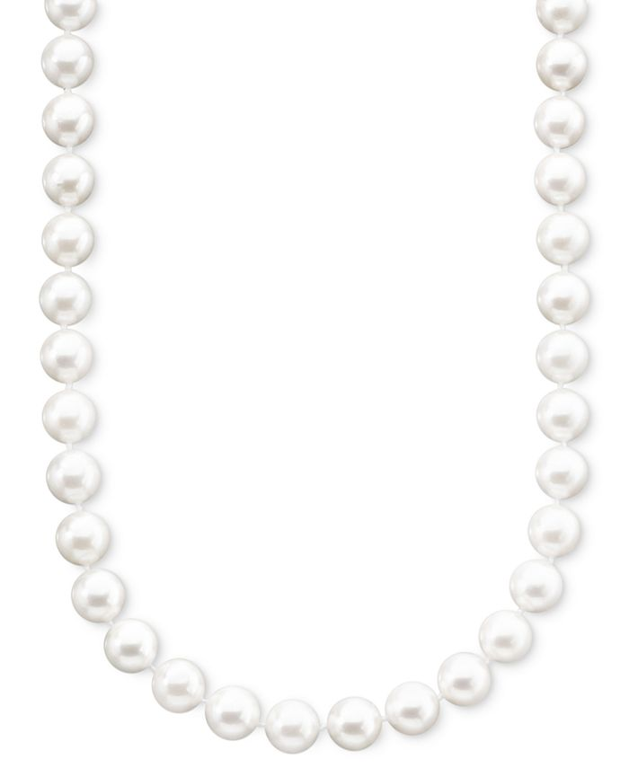 "Belle de Mer - Pearl Necklace, 18"" 14k Gold A+ Cultured Akoya Pearl Strand (6-1/2-7mm)"