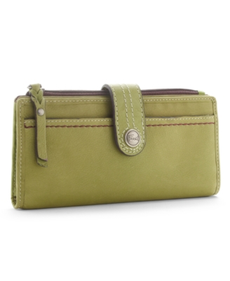 Fossil Wallet, Weekender Solid Leather Checkbook