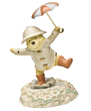 Lenox Collectible Disney Figurine, Winnie the Pooh Pooh's Singing in the Rain