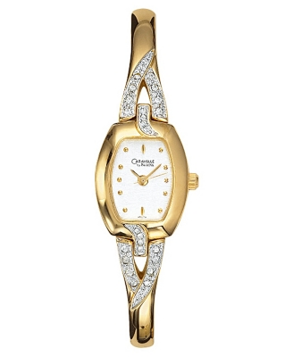 Caravelle by Bulova Watch, Women's Goldtone Bangle Bracelet 45L79