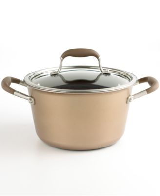 Anolon Advanced Bronze Nonstick 4.5 Qt. Covered Tapered Stockpot