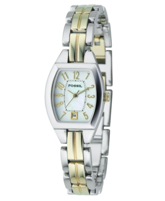 Fossil Watch, Women's Two Tone Stainless Steel Bracelet ES2074