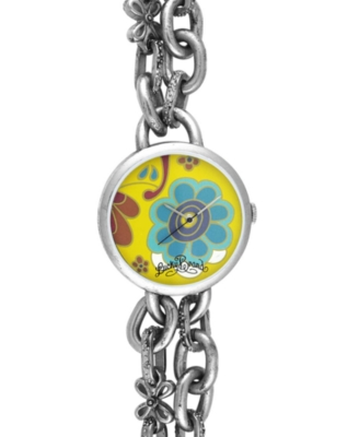 Lucky Brand Watch, Women's Flower Chain Bracelet 16-1085FLSV