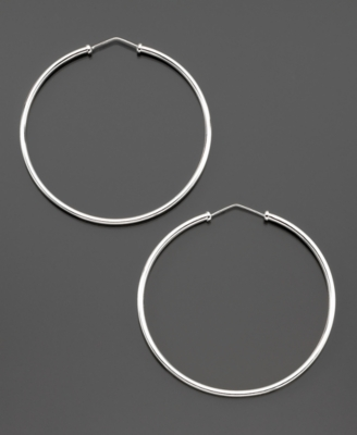 Sterling Silver Large Hoop Earrings - Sterling Hoops