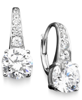 CRISLU Cubic Zirconia Drop Earrings (3 ct. t.w.)