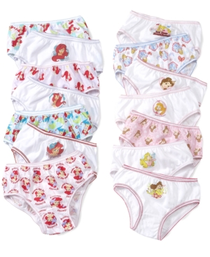 Disney Kids Underwear, Girls Disney Princesses and Ariel Underwear