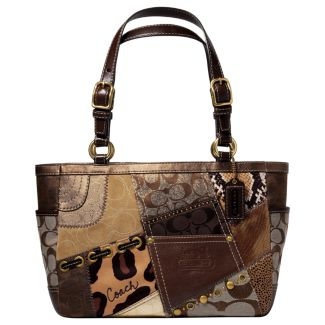 COACH TONAL PATCHWORK GALLERY TOTE