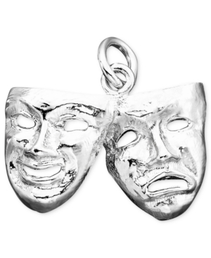 Rembrandt Charms Sterling Silver Comedy & Tragedy Charm