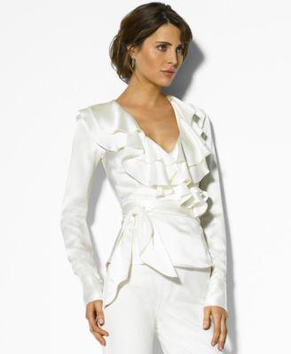 White Silk Blouse Macy'S 97