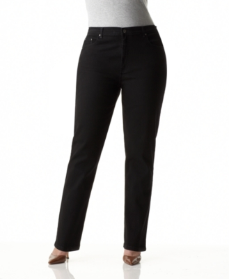 Style&co. Plus Size Jeans, Straight Leg Black Wash