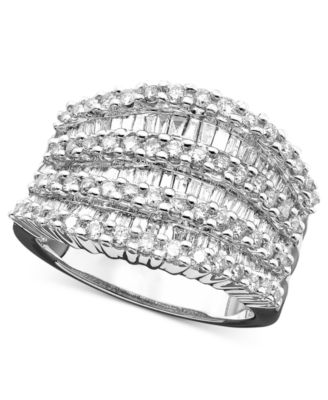 EFFY Collection Diamond Ring 14k White Gold Diamond 1-1/2 ct. t.w.