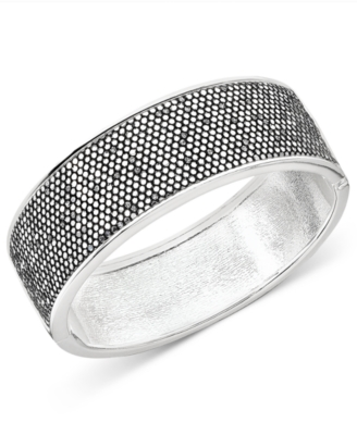 Betsey Johnson Silvertone Bangle Bracelet