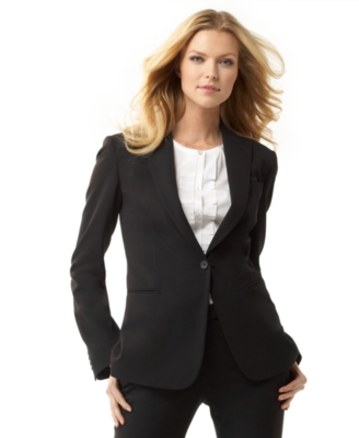 Calvin Klein Single-Button Stretch Suiting Jacket