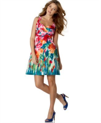 NINE WEST DRESS Sleeveless Floral Dress