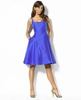 Lauren by Ralph Lauren Sleeveless Square-Neck Dress