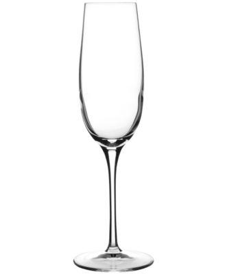 Luigi Bormioli Glassware, Crescendo Chip-Resistant Champagne Flutes, Set of 4