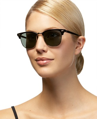 Ray Ban Clubmaster Sunglasses - Square Face Shop by Face Shape Sunglasses - Handbags & Accessories  - Macy's :  frames square face ray ban clubmaster sunglasses glasses