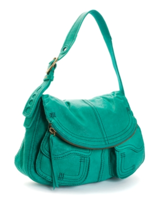 Lucky Brand Jeans Handbag, Foldover Pocket Leather Bag
