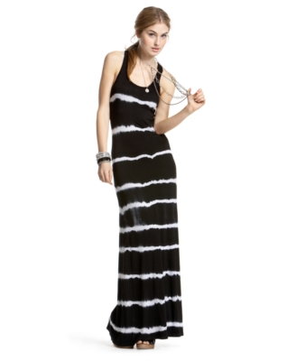 Soprano Tie-Dye Striped Sleeveless Maxi Dress - Maxi Dress