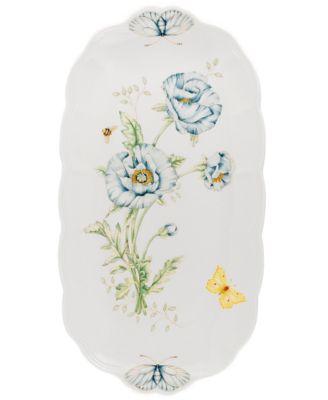 """Butterfly Meadow Oblong Sandwich Tray, 14 3/4"""""""
