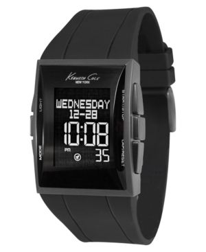 Kenneth Cole New York Watch, Men's Black Rubber Strap KC1591