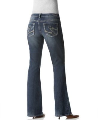 Silver Jeans, Original-Fit Aiko Flared, Medium Dark Wash