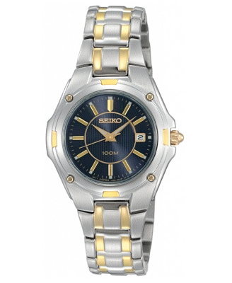 Seiko Watch, Women's Two Tone Stainless Steel Bracelet SXDB46