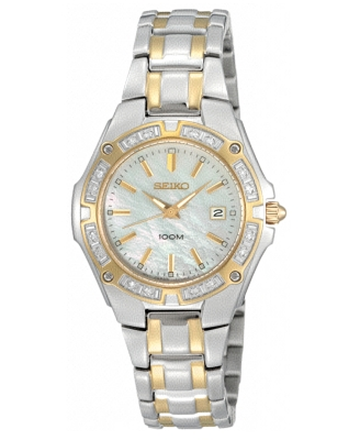 Seiko Watch, Women's Two Tone Stainless Steel Bracelet SXDB52