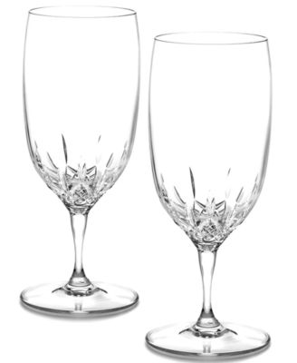 Waterford Stemware, Lismore Essence Iced Beverage Glasses, Set of 2