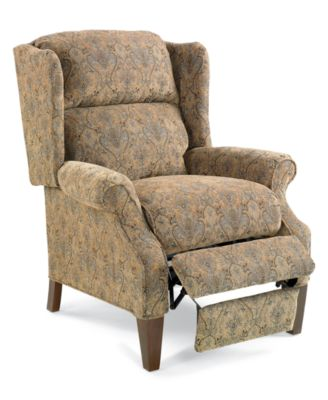 Antique queen anne wing chair - Andy Recliner Chair Queen Anne Style Furniture Macy S